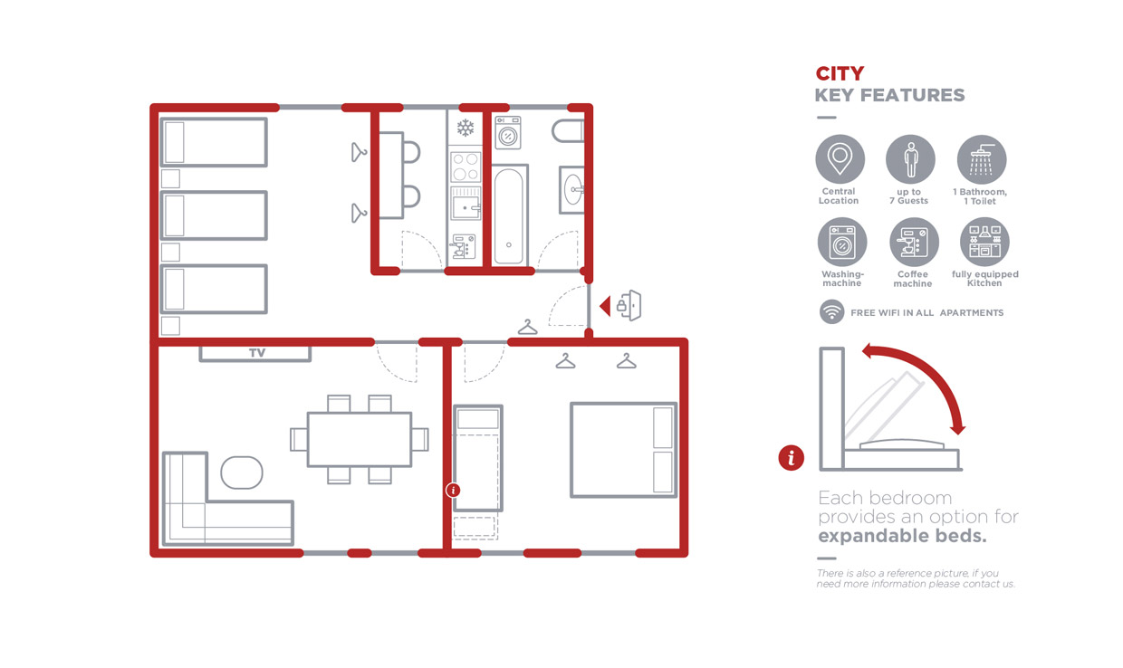 Grundriss Apartment City
