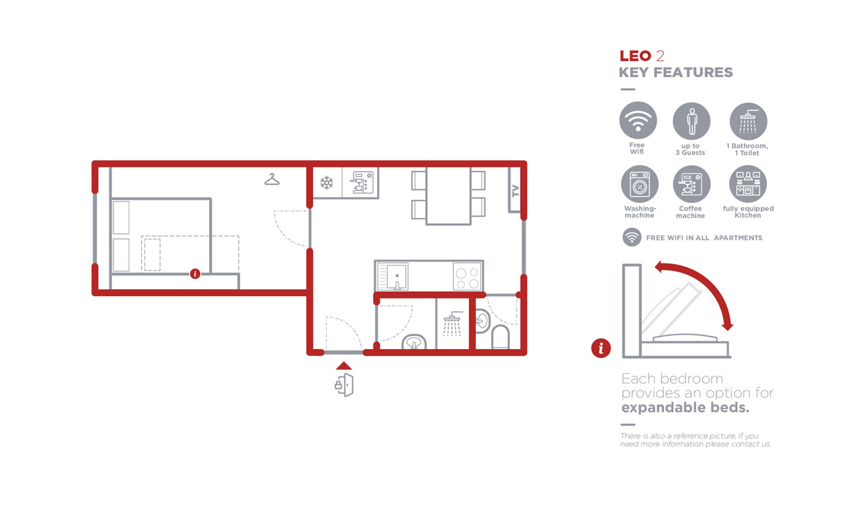 Grundriss Apartment Leo 2