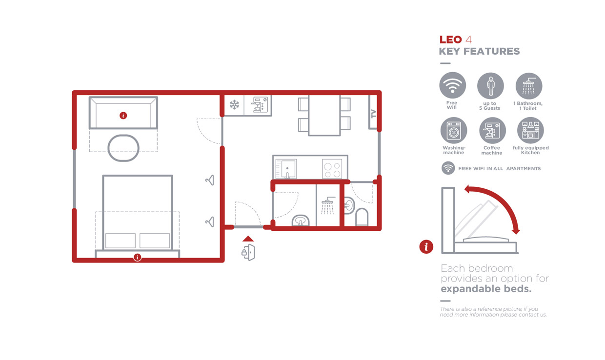 Grundriss Apartment Leo 4